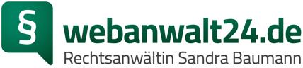 webanwalt24.de | Rechtsanwältin Sandra Baumann